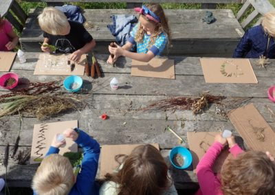 Workshop Schilderen met grond en planten