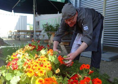 Eetbare tuin bij Grand Café De Stal